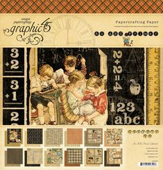 Graphic 45 - An ABC Primer Collection - 12 x 12 Paper Pad at Scrapbook.com $19.99 - #scrapbooking #graphic45