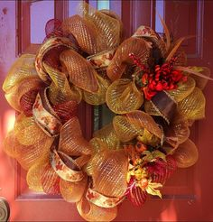 Fall Wreath, Perfect deco mesh wreath for your Fall decor by Welcome Home Wreath, $50.00