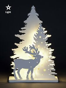 Wooden White Light Up Decorations Christmas LED Ornament Xmas Festive Tree Deer Outdoor Reindeer Christmas Decorations, Inflatable Christmas Decorations, Christmas Tree Toppers, Outdoor Christmas, Christmas Tree Decorations, Christmas Ornaments, Christmas Garden, Christmas Wood, Christmas Projects