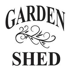 PLANTILLA de jardín  jardín cobertizo  12 x 12 por OaklandStencil