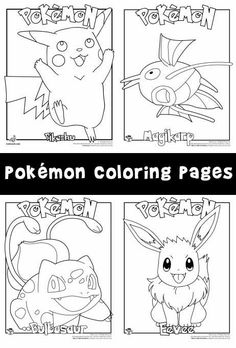 Great Pokemon coloring pages, including many characters from Pokemon Go.
