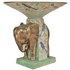 French 1940's Elephant Centerpiece By Cazaux