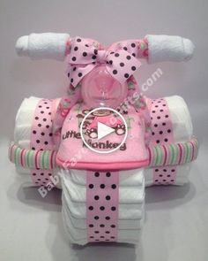 Pink for girls tricycle diaper cake babyfavorsandgift… - Baby Diy - Pink for girls tricycle diaper cake babyfavorsandgift … - Baby Shower Cakes, Baby Shower Niño, Baby Shower Diapers, Girl Shower, Baby Showers, Baby Shower Parties, Shower Party, Tricycle Diaper Cakes, Nappy Cakes