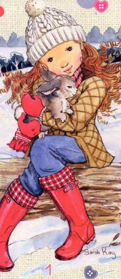 sarah kay Sarah Kay, Vintage Pictures, Pretty Pictures, Colouring Pages, Coloring Books, Doll Painting, Picture Postcards, Holly Hobbie, Beautiful Drawings