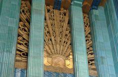#ArtDeco   Interior detail Eastern Columbia Building, Broadway, Los Angeles. Designed by Claud Beelman, 1930.