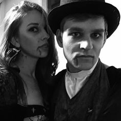 Vampires #costume #party #scary #bw #dark #blood #ducky #officeparty
