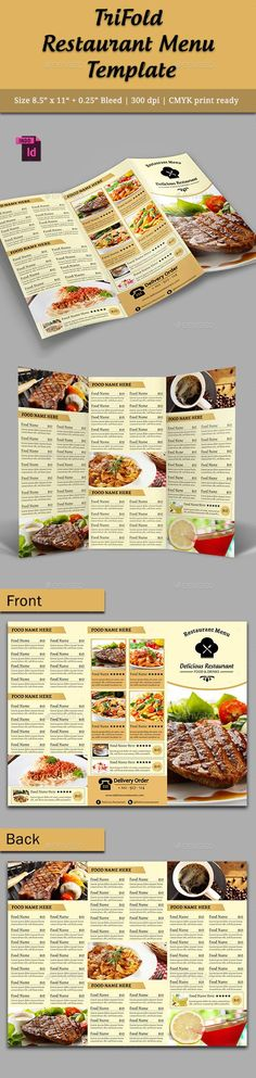 Restaurant Menu Templates  Diseo    Restaurant Menu