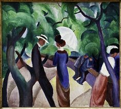 August Macke (1887 - 1914) was one of the leading members of the German Expressionist group Der Blaue Reiter (The Blue Rider).
