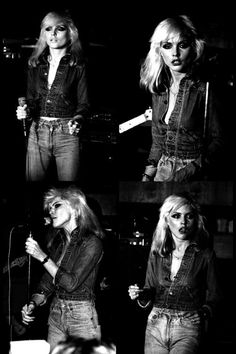 Debbie Harry, on stage with Blondie at Dingwalls Dancehall, London, 1978. Photos by Roger Morton