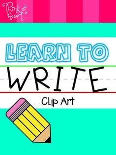 Learn to Write Clip Art FREEBIE
