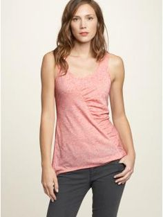 super-flattering tank you can put under light sweaters or cardigans.