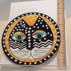 Laurel Burch Signed Cat Plate 1998 8 inches | eBay