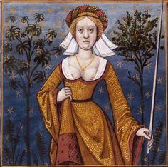 Flore, courtisane, déesse des fleurs et épouse de Zéphir -- BnF Français 599 fol. 55v