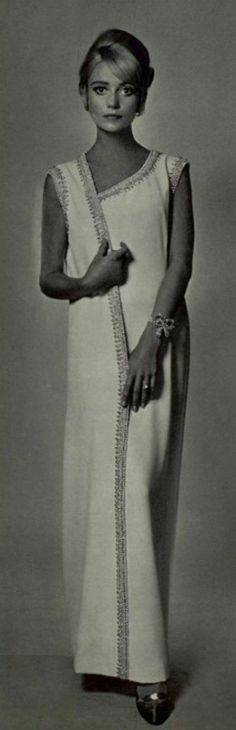 1965. evening dress  Jacques Griffe