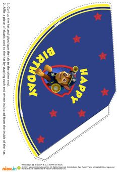 3rd Birthday, Happy Birthday, Birthday Parties, Paw Patrol Hat, Paw Patrol Birthday Invitations, Party Hats, Party Printables, Party Themes, Arts And Crafts