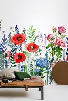 Tapetkollektionen Flowers & Aquarelle ‹ Dansk inredning och design