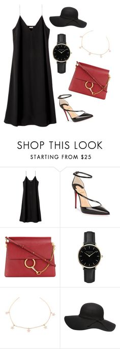 """Untitled #281"" by jovanaaxx on Polyvore featuring Christian Louboutin, Chloé and ROSEFIELD"