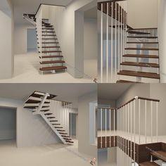 """52 Likes, 4 Comments - Лестницы на заказ (@lestnicy_feb) on Instagram: """"Г образная лестница хай-тек на центральном металлическом косоуре, ограждение выполнено из нерж.…"""""""
