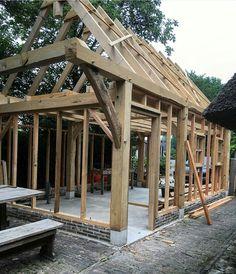 Metal Barn Homes, Metal Building Homes, Pole Barn Homes, Building A House, Pub Sheds, Barns Sheds, Outdoor Bar And Grill, Home Forge, Cordwood Homes