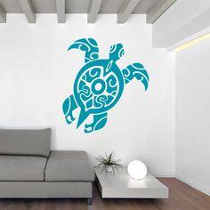 Original vinilo decorativo de tortuga, con un diseño muy sugerente y atractivo. Ideal para dar color y alegría en cualquier pared vacía.
