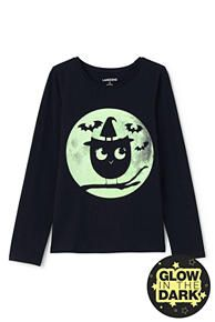 Roll-Neck Novelty Graphic Knit Tee