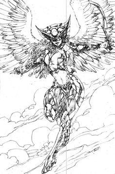 Happy Sketch Saturday! This week, Hawkwoman!