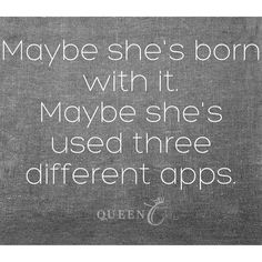 Don't hide yourself behind the many ways to edit a photo of yourself! Be you be comfortable in your own skin! #bemorethanaprincess  #RoyalFamily #qotd #quote www.QueenCHair.com