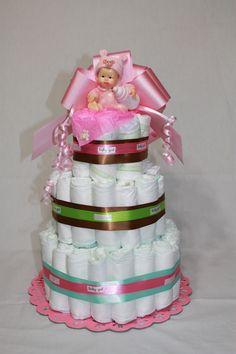 baby girl diaper cake :)
