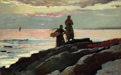 Winslow Homer Painting - Saco Bay by Winslow Homer