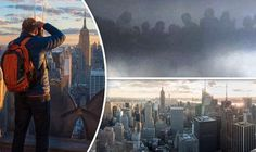 MASSIVE SIGHTING!! GIANTS From ANOTHER DIMENSION Above New York!..............Bluebeam?