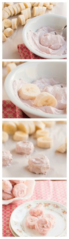 Frozen Yogurt Banana Dippers