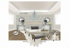 Master bedroom LUXE interiors by anne