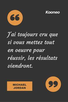 """[CITATIONS] """"J'ai toujours cru que si vous mettez tout en oeuvre pour réussir, les résultats viendront."""" MICHAEL JORDAN #Ecommerce #E-commerce #Kooneo #Michaeljordan #Reussir : www.kooneo.com"""