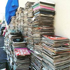 San Diego's Hillcrest Thrift Trader 10000 records out back after the floor collapsed under the sheer weight of vinyl records