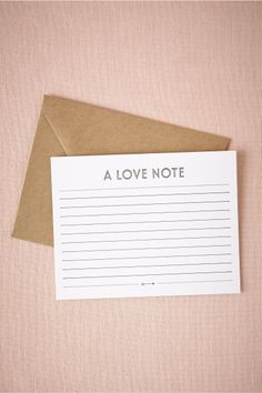 Love Note Letterpress Card from BHLDN