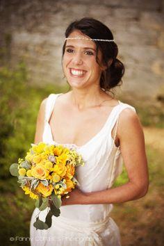 Fanny Combes – Un mariage champêtre en jaune dans le Gard – La mariee aux pieds nus