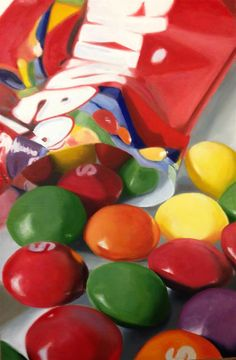 """Skittles"" original fine art by James Coates art drawing Daily Paintworks - Original Fine Art © James Coates Candy Drawing, Food Drawing, Art Sketches, Art Drawings, Vexx Art, Food Art Painting, Watercolor Painting, Sweets Art, Close Up Art"