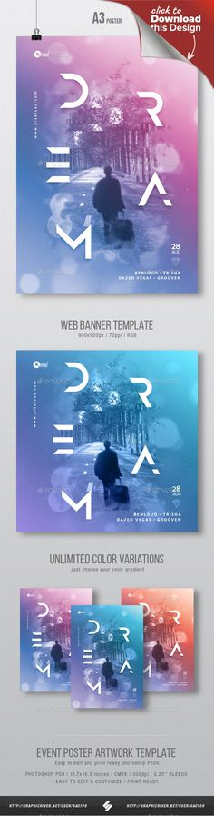 a3, alternative, ambient, banner, chillout, chillstep, color, creative, dream, drum and bass, dubstep, electro, event, flyer, gradient, lounge, minimal, music, party, photoshop, poster, print, psd, session, surrealistic, techhouse, techno, trance Color gradient party poster artwork template Color gradient design party flyer template suited for different genres of electronic music parties or sessions like minimal, techno, tech-house, progressive house, dubstep, chillstep, drum and bass, li...