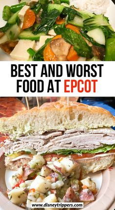 Feb 2020 - These are the best Epcot restaurants as well as the worst dining at Epcot that should be avoided! Discover some of the best food at Epcot right here! Best Epcot Restaurants, Worst Food, Disney World Vacation, Disney Travel, Disney Trips, Disney Food, Disney Stuff, Walt Disney, Restaurant Guide