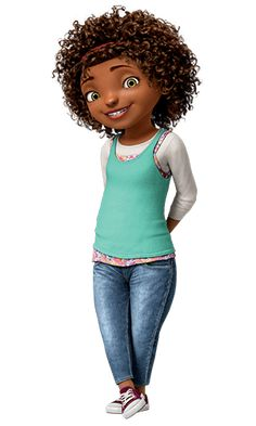 """As you should know by now, the lead in """"Home"""" is an adorable lil 15 year old who goes by Tip and is voiced by Rihanna. Let me tell you more about Tip: She and her mom (voiced by Jennifer Lopez) are both immigrants from Barbados She's a big nerd and, as she proudly says more than once to Jim Parsons' alien character Oh, got an A in geometry  She was treated different by the other kids and had trouble fitting in OK LOOK AT HER. SUCH a realistic body! Unsexualized, normal clothes, beautiful…"""