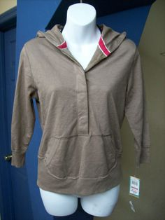 Brown Shirt Hoodie by Tangerine Girls Women Long Sleeve Casual wear Size L  $14.85 Free Shipping. Accessorizing is very important for Your Personal Style! Island Heat Products http://stores.ebay.com/Island-Heat-Jeans today's clothing Fashions.