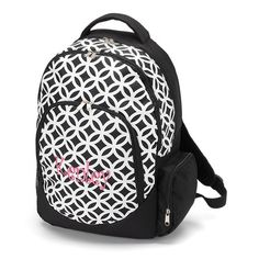 Black monogrammed book bag from Simply Southern Monograms. Back to school