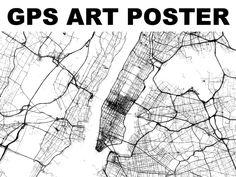 GPS ART POSTER by Steve Coast, via Kickstarter.