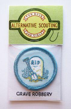 Alternative Scouting Merit Badge - GRAVE ROBBERY