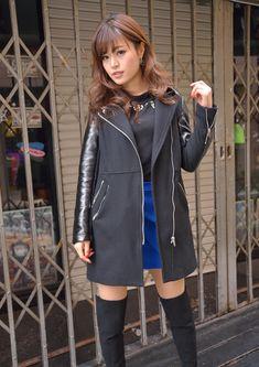 Cute Japanese Girl, Cute Asian Girls, Boudoir Photography, Leather Jacket, Glamour, Blazer, Model, Jackets, Porsche