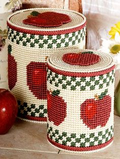 Plastic Canvas Patterns | Apple Container Covers