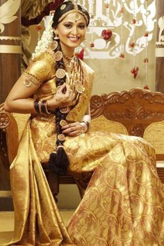 adorned in gold, the south indian bride sparkles!
