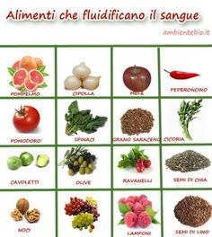 10 e più alimenti che aiutano a fluidificare il sangue Health Advice, Health And Wellness, Health Fitness, Blood Thinning Foods, Detox Recipes, Healthy Recipes, Juice Plus, Greens Recipe, Nutrition Information