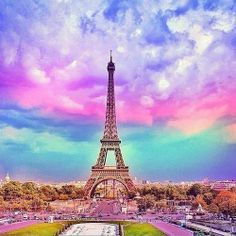 Beautiful Paris sunset