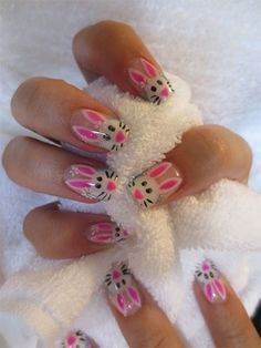 Easy Easter Bunny Nail Art Designs & Ideas 2014 For Beginners